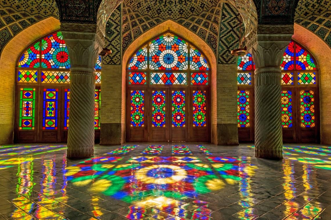 Nasir al-Mulk Mosque in Shiraz. Image shot 2014. Exact date unknown.
