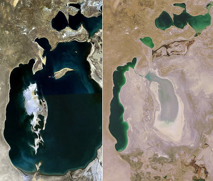 Aral sea 1989 vs 2008